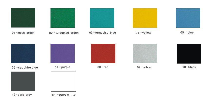 Powder Coating Color Chart