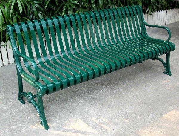 Commercial Metal Park Bench SPB-301 Image 1