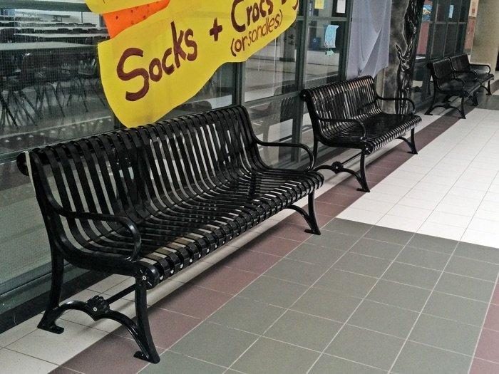 Commercial Metal Park Bench SPB-301 Image 3