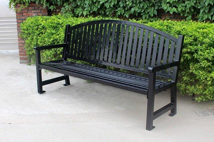Commercial Metal Park Bench SPB-672 Image 1