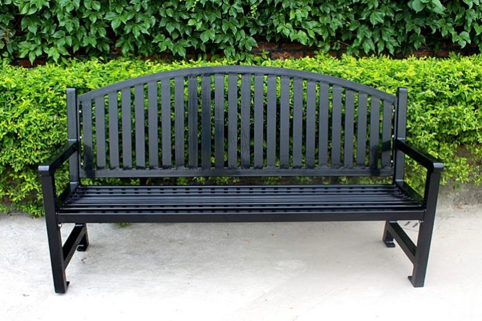 Commercial Metal Park Bench SPB-672 Image 2