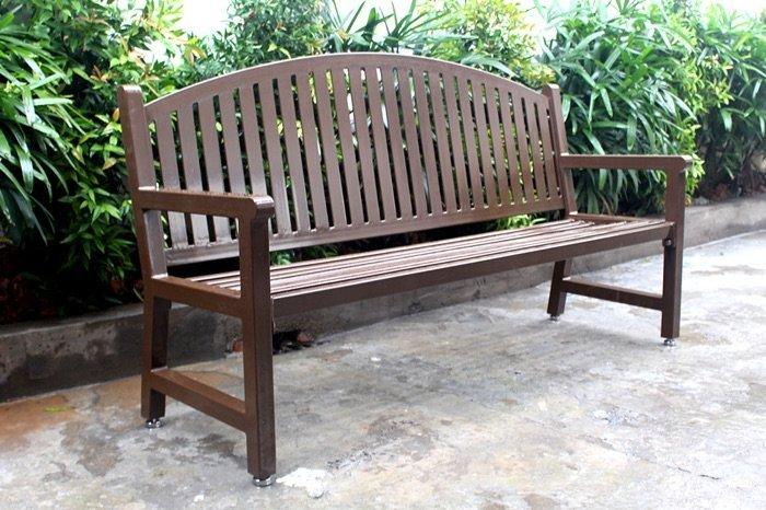Commercial Metal Park Bench SPB-672 Image 3
