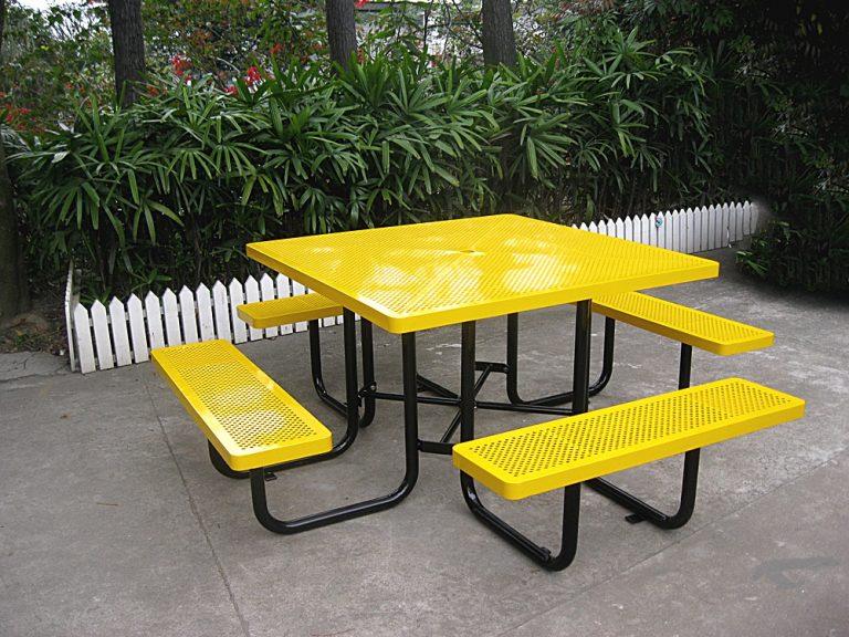 Commercial Metal Picnic Table SPP-202 Picture 1