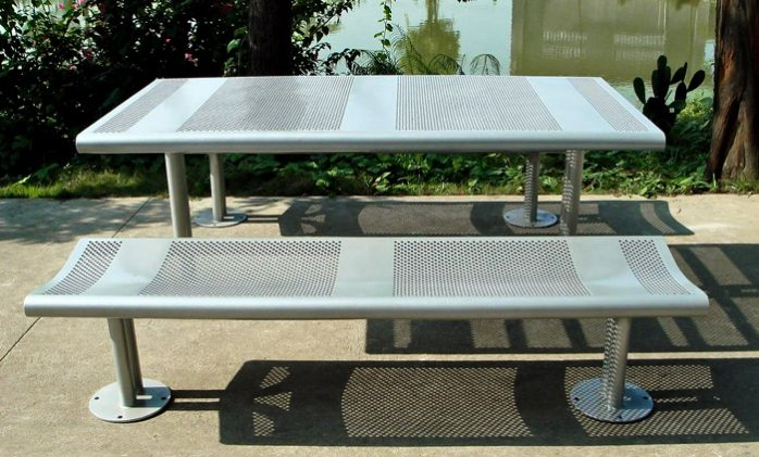 Commercial Metal Picnic Table SPP-308B Image 1