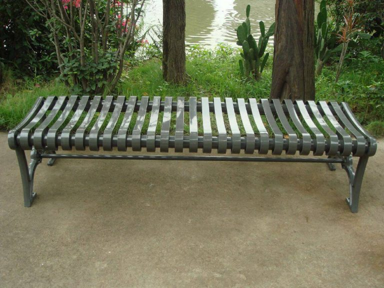 Commercial Outdoor Backless Metal Bench SPB-402 Image 3