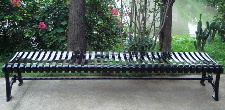 Commercial Outdoor Backless Metal Bench SPB-402 Image 4
