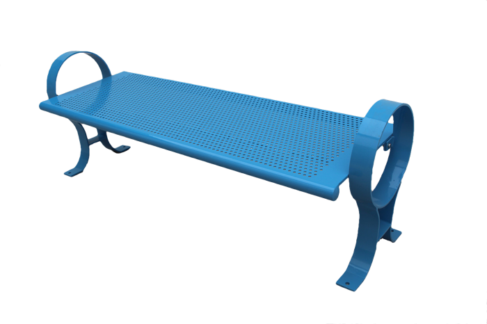Commercial Outdoor Backless Metal Park Bench SPB-009B Cover Image