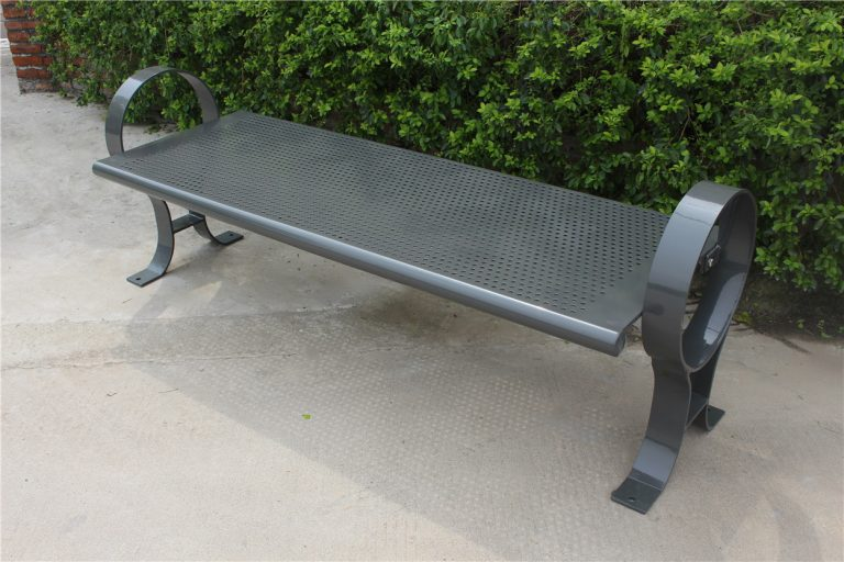 Commercial Outdoor Backless Metal Park Bench SPB-009B Image 1
