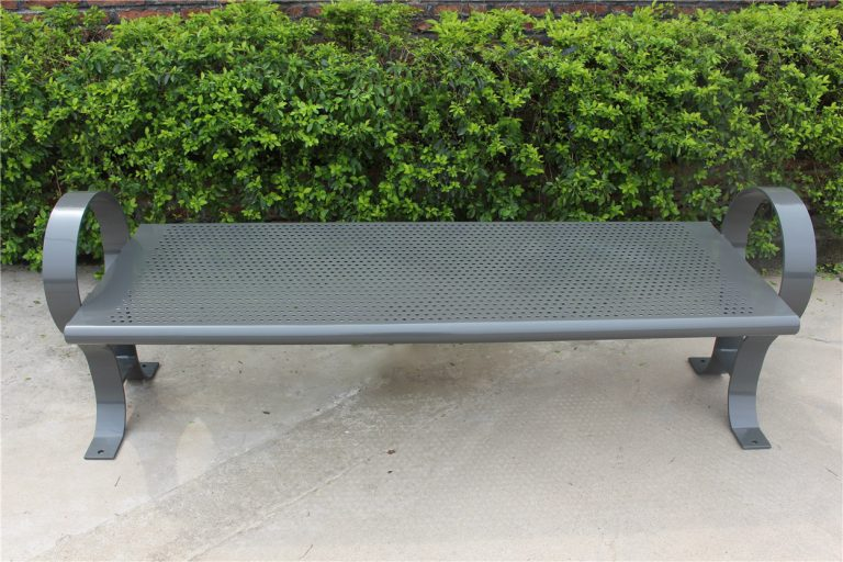 Commercial Outdoor Backless Metal Park Bench SPB-009B Image 2