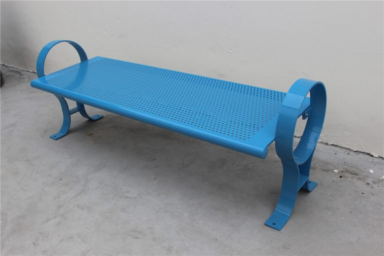 Commercial Outdoor Backless Metal Park Bench SPB-009B Image 3