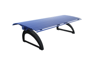 Commercial Outdoor Backless Metal Park Bench SPB-401 Cover Image