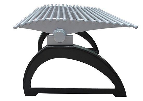 Commercial Outdoor Backless Metal Park Bench SPB-401 Image 3