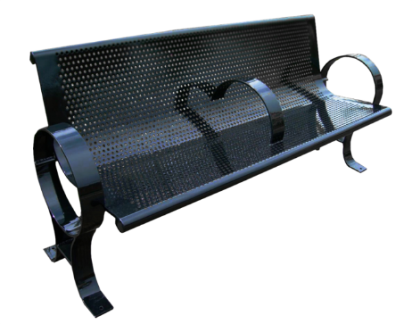Commercial Outdoor Metal Park Bench SPB-009 Cover Image