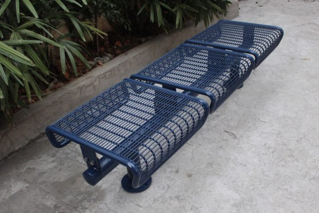 Commercial Outdoor Metal Park Bench SPB-011 Image 1
