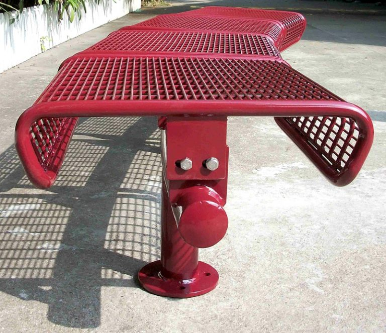 Commercial Outdoor Metal Park Bench SPB-011 Image 3