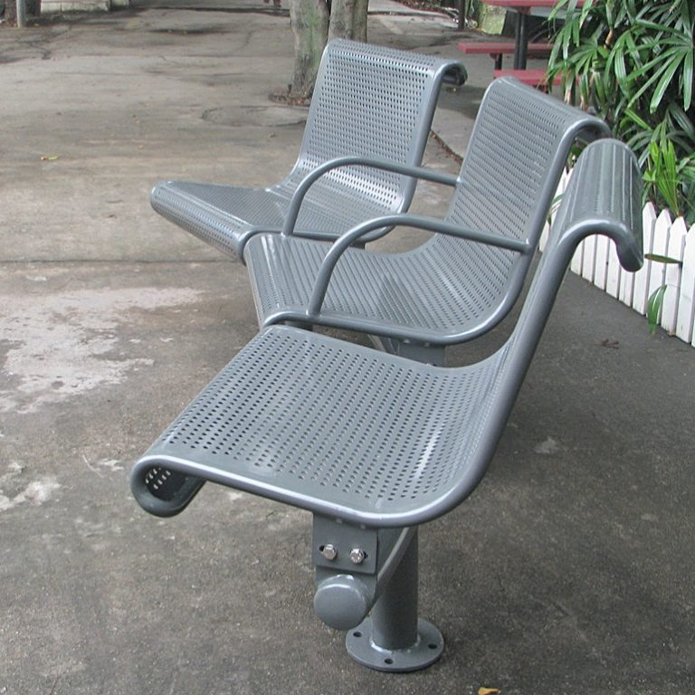 Commercial Outdoor Metal Park Bench SPB-022 Image 1