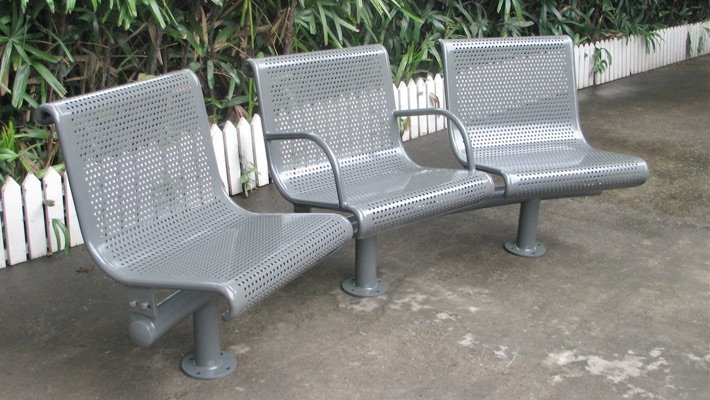 Commercial Outdoor Metal Park Bench SPB-022 Image 2