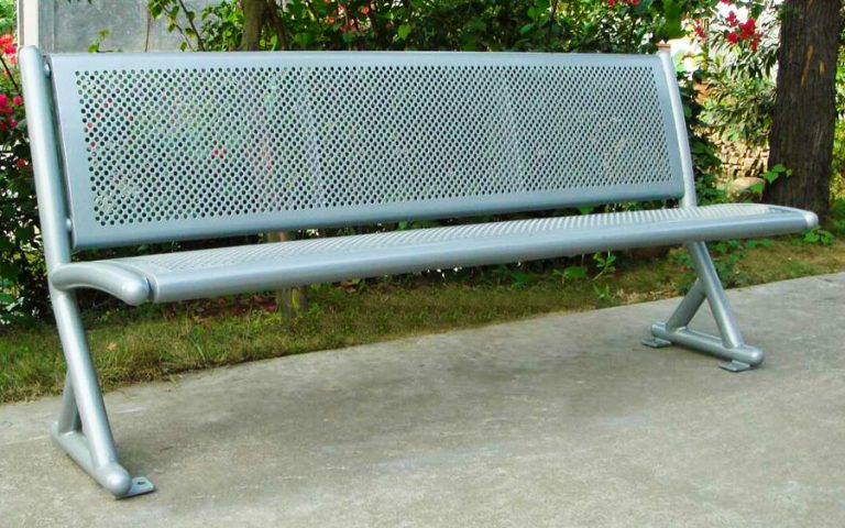 Commercial Outdoor Metal Park Bench SPB-061 Image 2