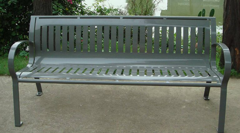 Commercial Outdoor Metal Park Bench SPB-074 Image 1