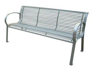 Commercial Outdoor Metal Park Bench SPB-074B Cover Image