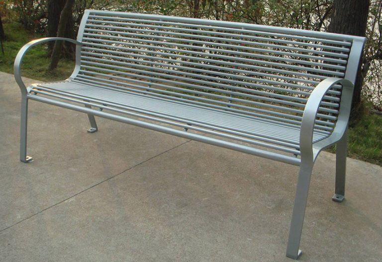 Commercial Outdoor Metal Park Bench SPB-074B Image 1