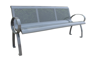 Commercial Outdoor Metal Park Bench SPB-075 Cover Image