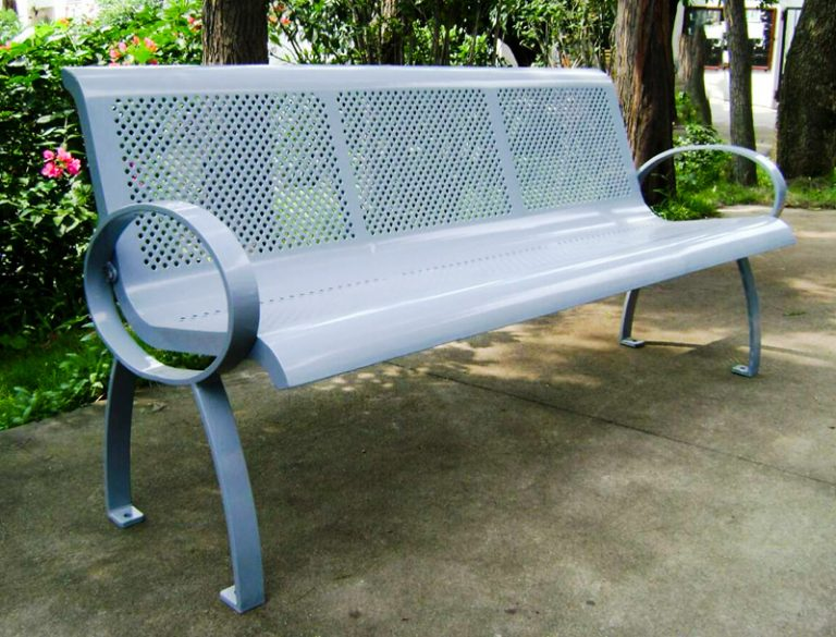 Commercial Outdoor Metal Park Bench SPB-075 Image 3