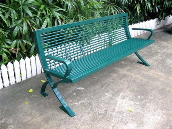 Commercial Outdoor Metal Park Bench SPB-076 Image 1