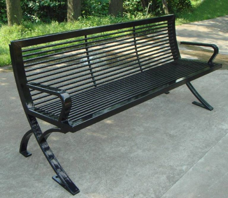 Commercial Outdoor Metal Park Bench SPB-076 Image 3