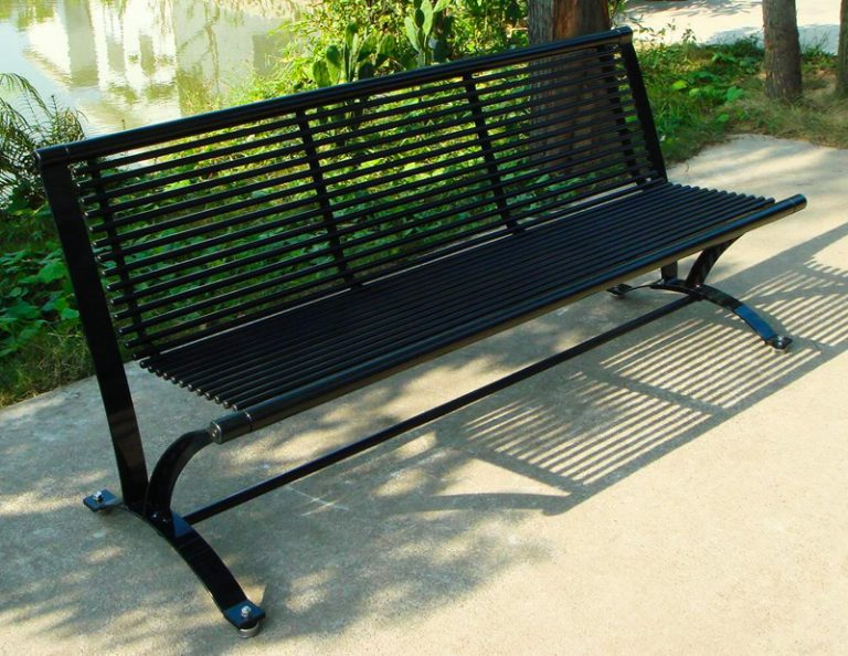 Commercial Outdoor Metal Park Bench SPB-078 Image 2