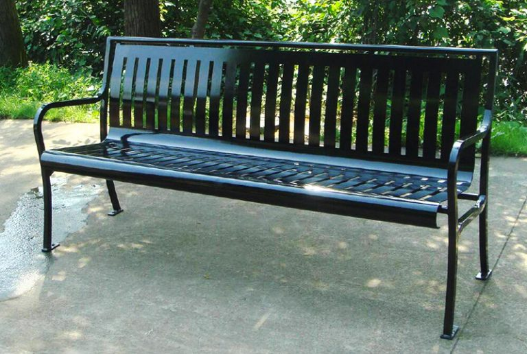 Commercial Outdoor Metal Park Bench SPB-079 Image 1
