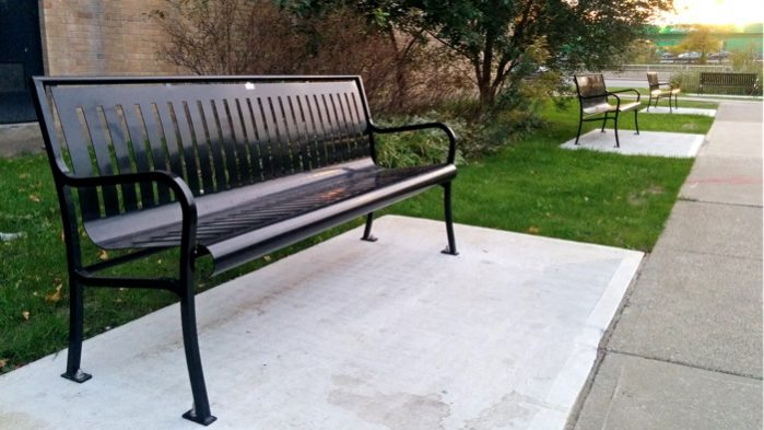 Commercial Outdoor Metal Park Bench SPB-079 Image 2