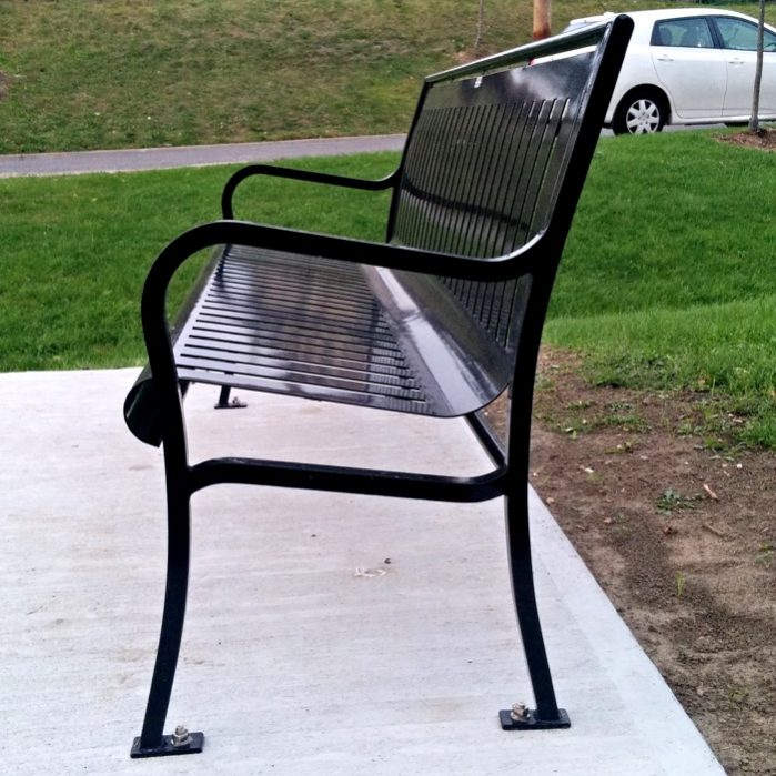 Commercial Outdoor Metal Park Bench SPB-079 Image 3