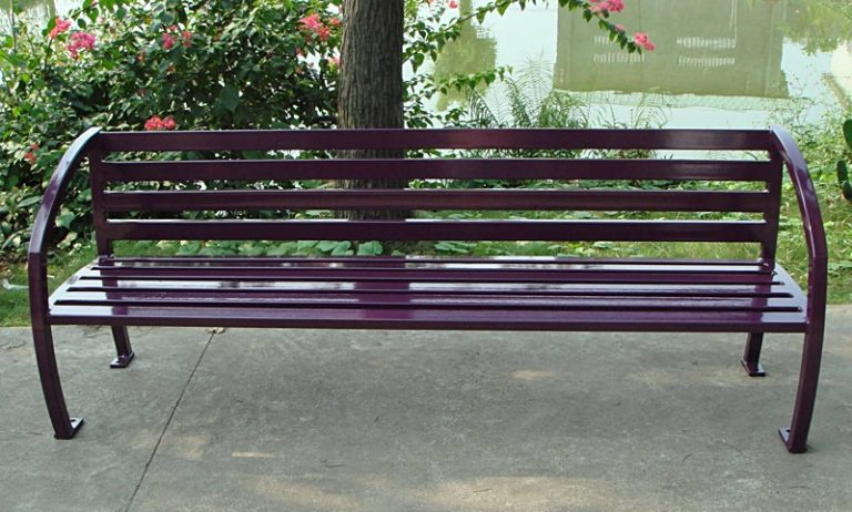 Commercial Outdoor Metal Park Bench SPB-085 Image 1