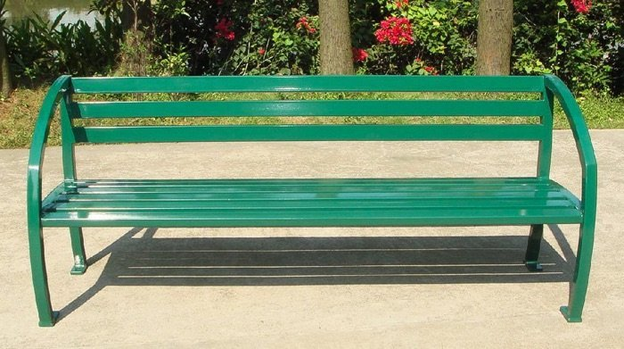 Commercial Outdoor Metal Park Bench SPB-085 Image 2