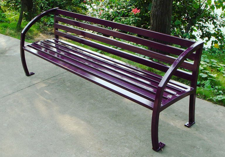 Commercial Outdoor Metal Park Bench SPB-085 Image 4