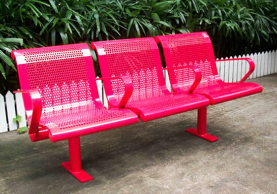 Commercial Outdoor Metal Park Bench SPB-127 Image 1