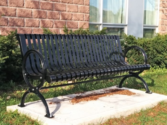 Commercial Outdoor Metal Park Bench SPB-302 Image 1