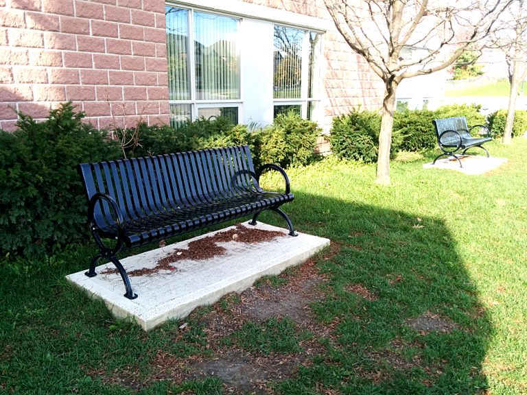 Commercial Outdoor Metal Park Bench SPB-302 Image 2