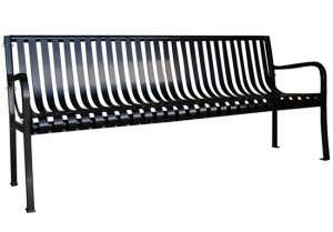 Commercial Outdoor Metal Park Bench SPB-305 Cover Image