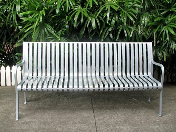 Commercial Outdoor Metal Park Bench SPB-305 Image 1
