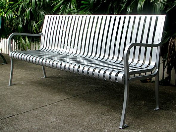 Commercial Outdoor Metal Park Bench SPB-305 Image 2
