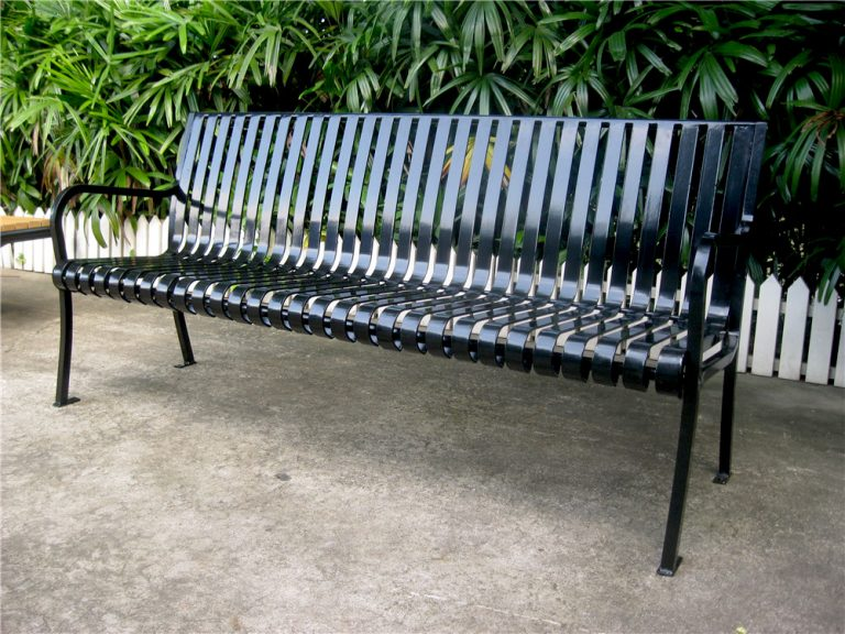 Commercial Outdoor Metal Park Bench SPB-305 Image 3