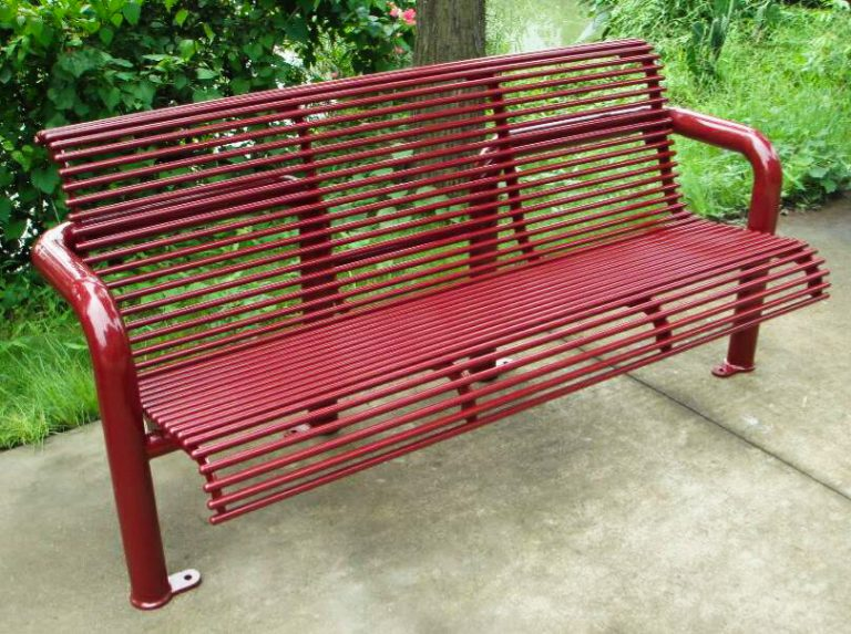 Commercial Outdoor Metal Park Bench SPB-308 Image 1