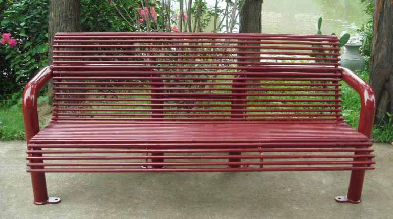 Commercial Outdoor Metal Park Bench SPB-308 Image 2