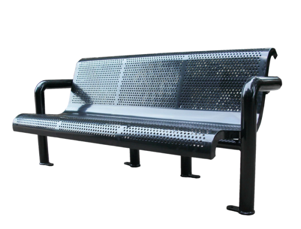 Commercial Outdoor Metal Park Bench SPB-308B Cover Image