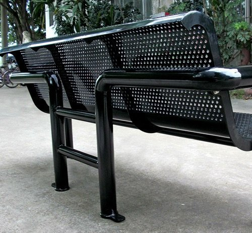 Commercial Outdoor Metal Park Bench SPB-308B Image 2