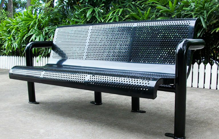 Commercial Outdoor Metal Park Bench SPB-308B Image 3