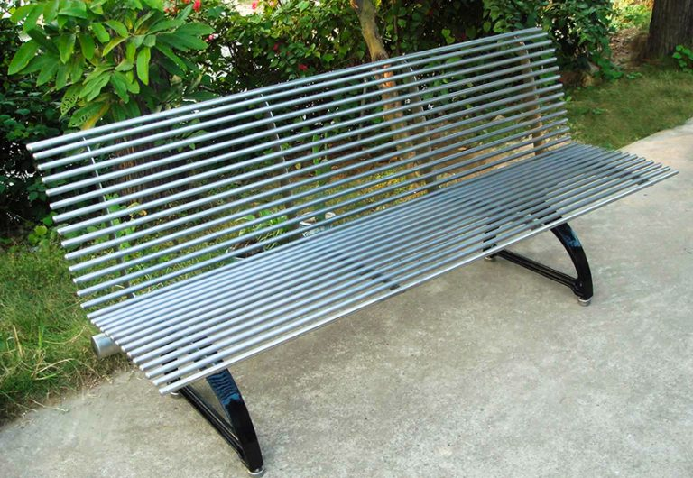 Commercial Outdoor Metal Park Bench SPB-310 Image 1