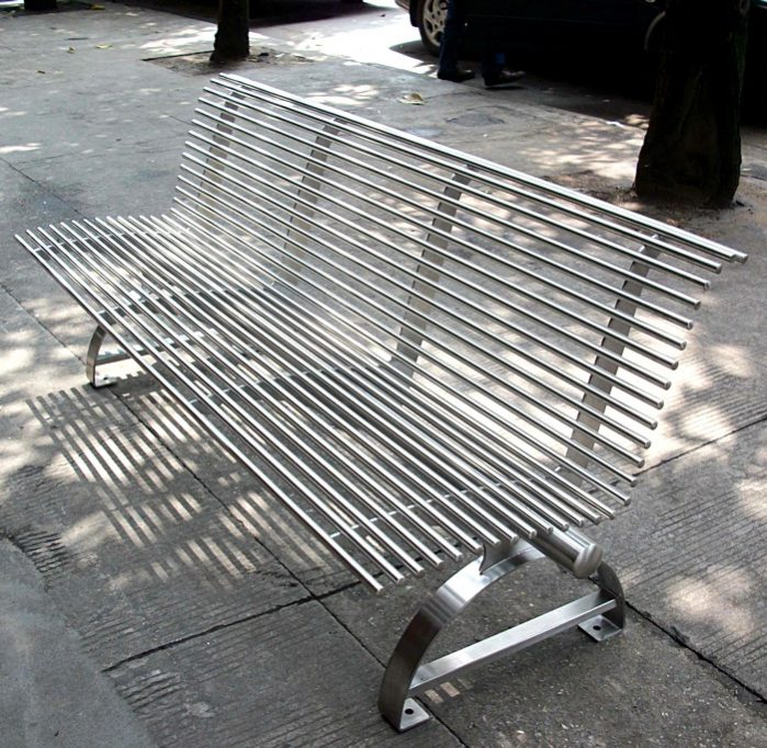 Commercial Outdoor Metal Park Bench SPB-310 Image 2